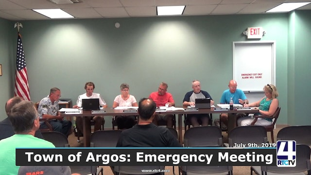 Argos Town Council Emergency Meeting - 7-8-19