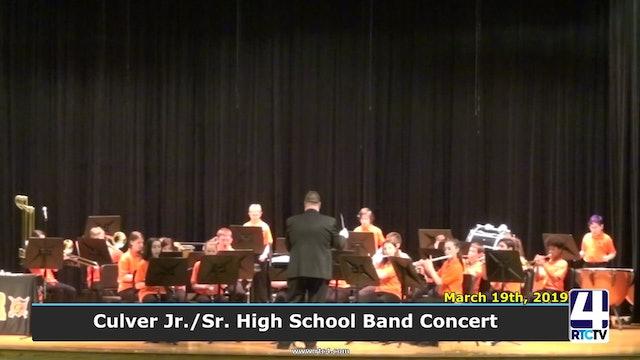 Culver Jr.Sr. High School Band Concert 3-19-19
