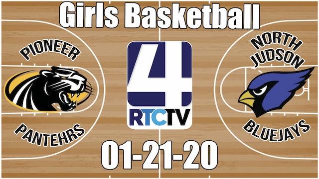 Pioneer Girls Basketball at North Judson 1-21-20