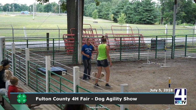 2018 Fullton County 4H Fair - Dog Agility Show - 07-05-18