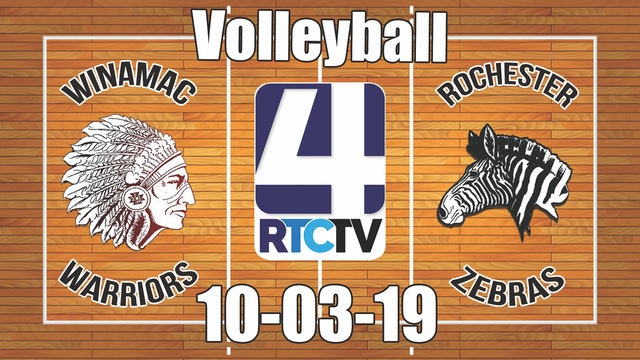Winamac Volleyball vs Rochester 10-3-19