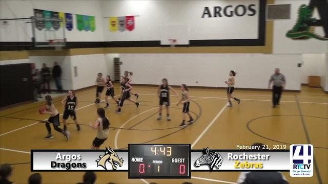 Argos 6th Grade Girls Basketball vs Rochester - 2-21-19