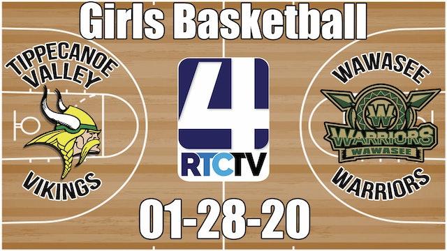 Tippecanoe Valley Girls Basketball vs Wawasee 1-28-20