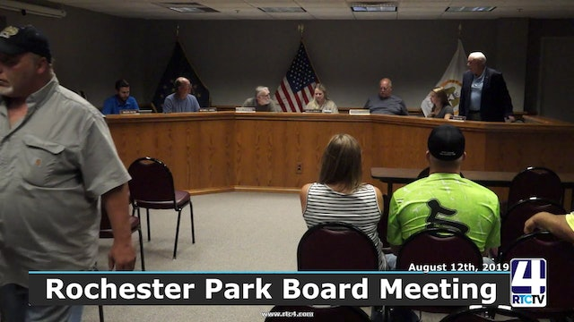 PM - Rochester Park Board Meeting - 8-12-19
