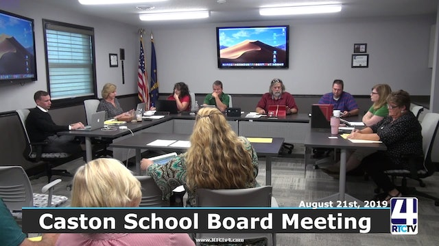 Caston School Board Meeting 9-18-19