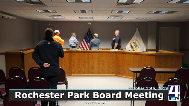 Rochester Park Board Meeting - 10-15-19