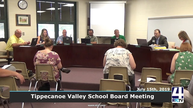 Tippecanoe Valley School Board Meeting 7-15-19