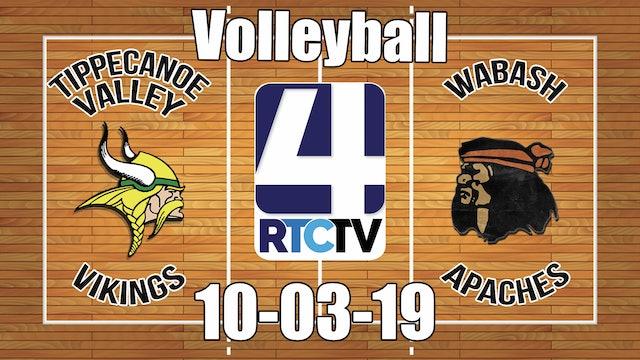 Tippecanoe Valley Volleyball vs Wabash 10-3-19