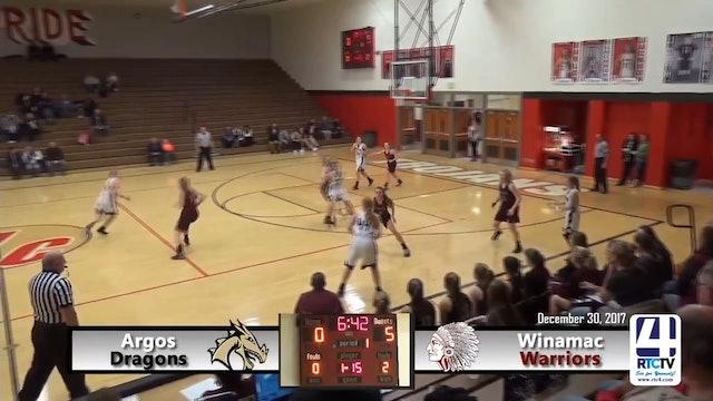 Argos Girls Basketball vs Winamac - 12-30-17