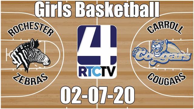 IHSAA Girls Basketball Sectional #37 Rochester(H) vs Carroll(V) 2-7-20