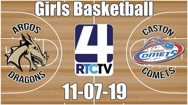 Argos Girls Basketball vs Caston 11-7-19