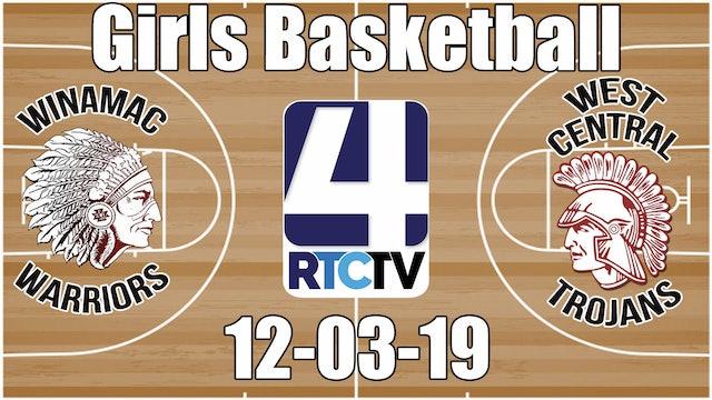 Winamac Girls Basketball vs West Central 12-3-19