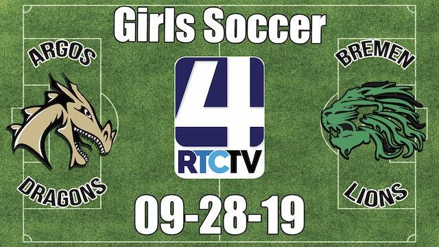 Argos Girls Soccer vs Bremen 9-28-19