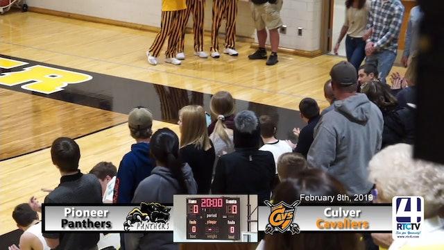 Pioneer Boys Basketball vs Culver - 2-8-19