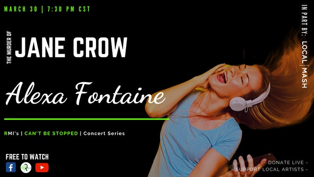 Alexa Fontaine | The Murder of Jane Crow - LIVE