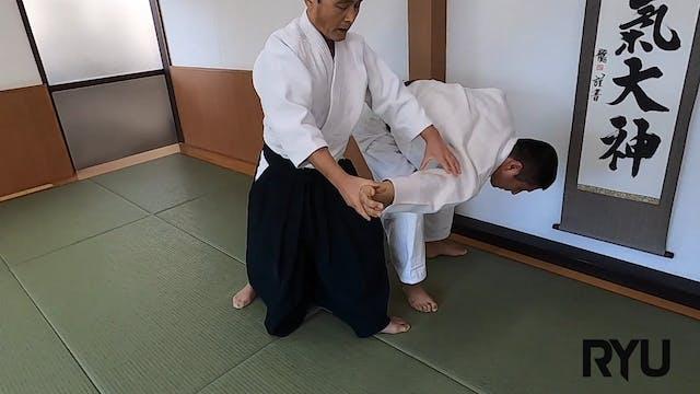 肩持ち三ヶ条抑え(二)神!Kata mochi sankajo osae ...