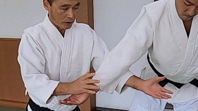 肘当て呼吸投げ Hijiate Kokyunage