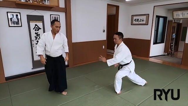 後ろ襟持ち肘締め つながり技 Ushiro eri mochi hijis...
