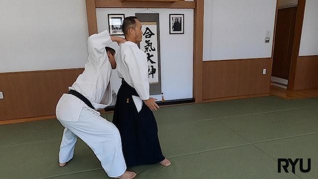 後ろ片手襟持ち三ヶ条抑え(二)新!Ushiro katate eri mochi sankajo osae (2) NEW VERSION! 2021/7