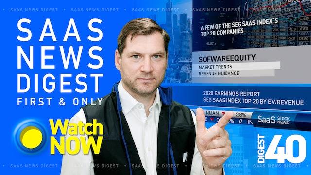 News Digest 40: SaaS Index Top 20 companies