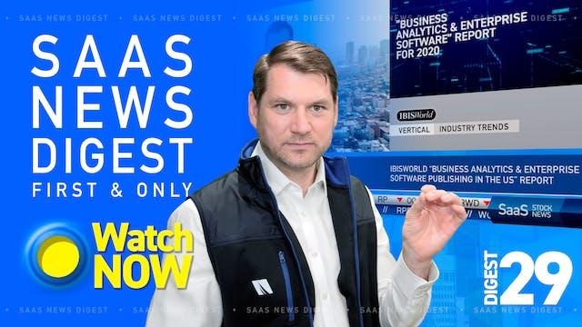 News Digest 29: M&A report shows tech...