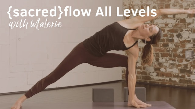 {sacred}flow All Levels with Malerie, 45-Minutes