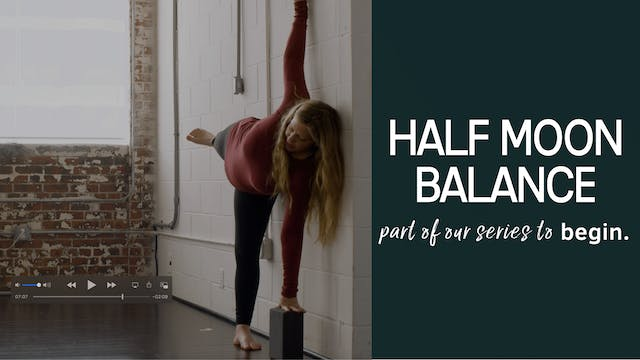 Half Moon Balance when You Want a Challenge