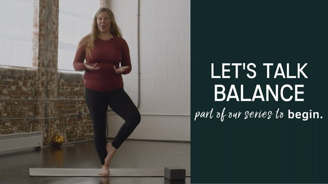Let's Talk Balance