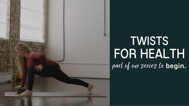 Twists for a Healthy Spine Tutorial
