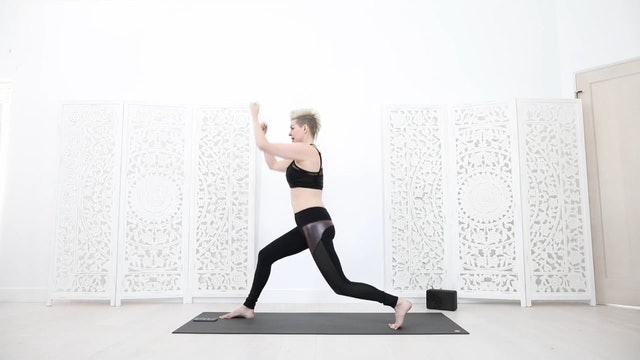 Yoga Shred Handstand Prep + Arms Abs Glutes Cardio Int/Adv 25 Mins