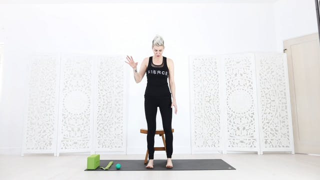 Chair Yoga Session 2:  Better Balance + Leg / Hip Stability