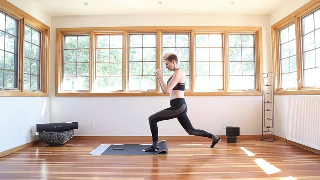 Yoga Shred®: SOCKS ON Lunge Backs