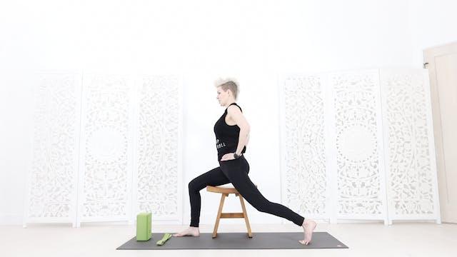 (C) Chair Yoga Session 1: Grounding + Foot / Leg Strength/Stretch