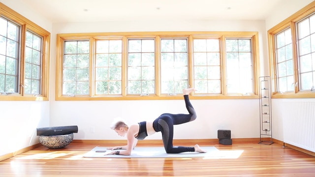 Yoga Shred®: Forearm Fierce Kicks