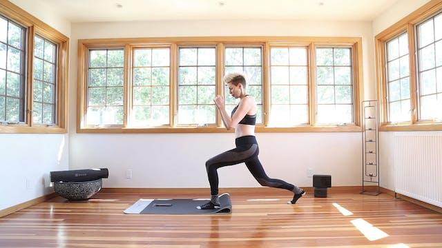 Q Yoga Shred®: SOCKS ON Lunge Backs