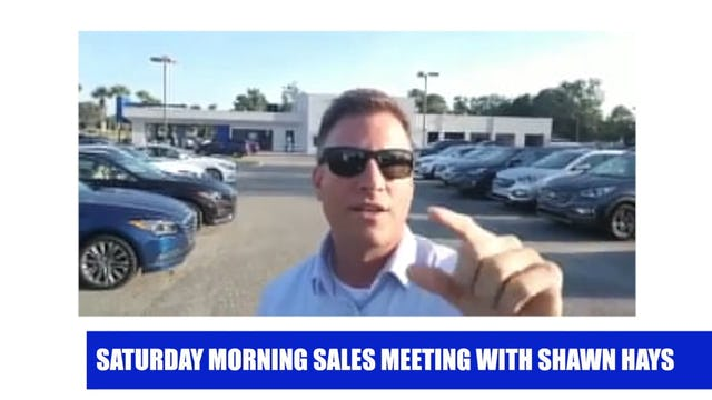 Saturday Morning Sales Meeting 2