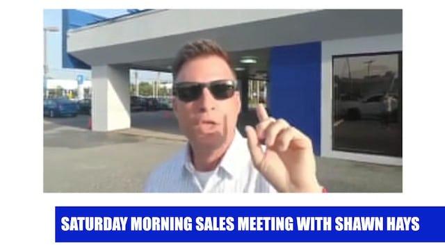 Saturday Morning Sales Meeting 1