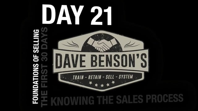 DAY 21 - Knowing The Sales Process