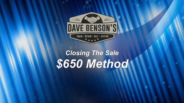 The $650 Method