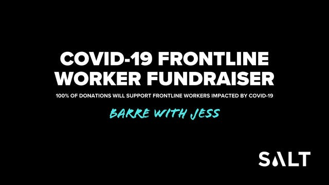 Barre DONATION for COVID-19 Frontline Workers