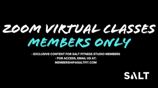 * SALT MEMBER ONLY May 2020 Zoom Class Recordings