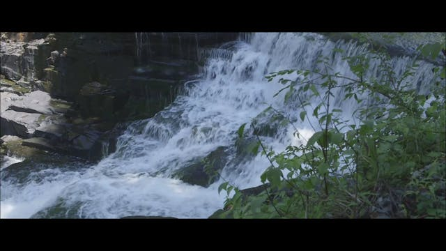 Waterfall with music