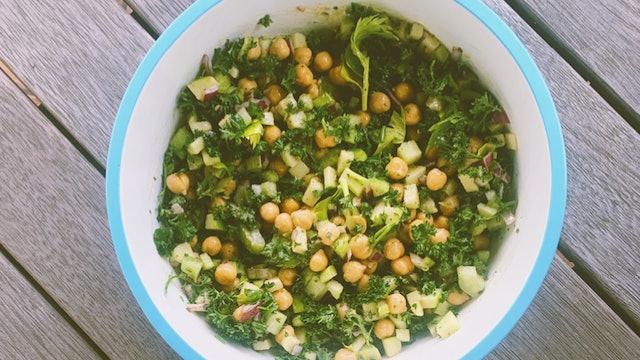 Luteal (Autumn) Recipe: Chickpea Salad