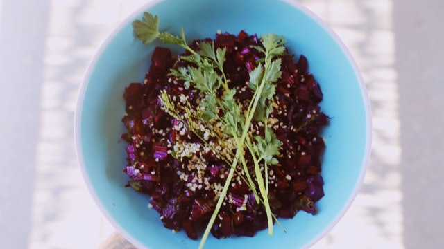 Menstrual (Winter) Recipe: Whole Beet Side Dish