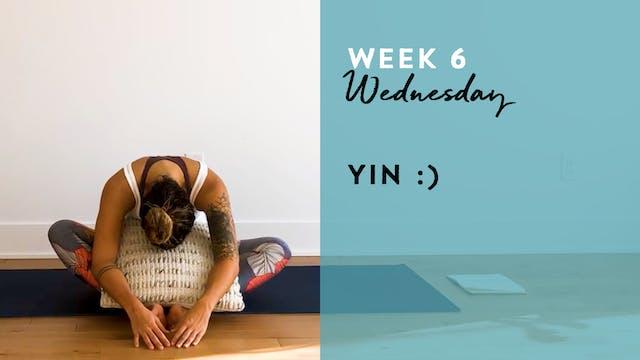 W6: Wednesday - Yin
