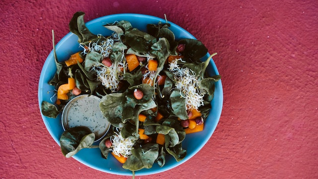 Hornby Salad with pesto dressing