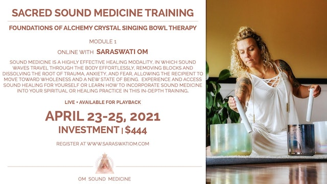 Sacred Sound  Medicine Training