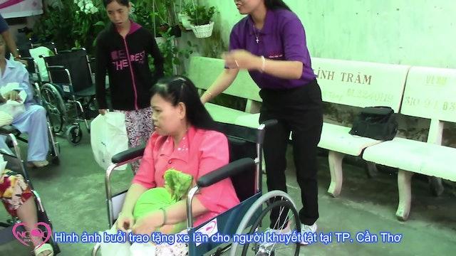 Ngọc Trong Tim | Tri ân quý ân nhân và trao tặng xe lăn
