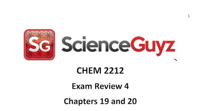 CHEM 2212 Exam Review #4 Spring 2021