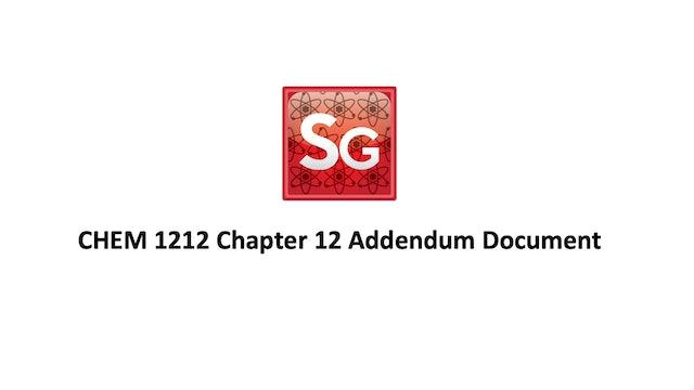 Chapter 12 Addendum Document